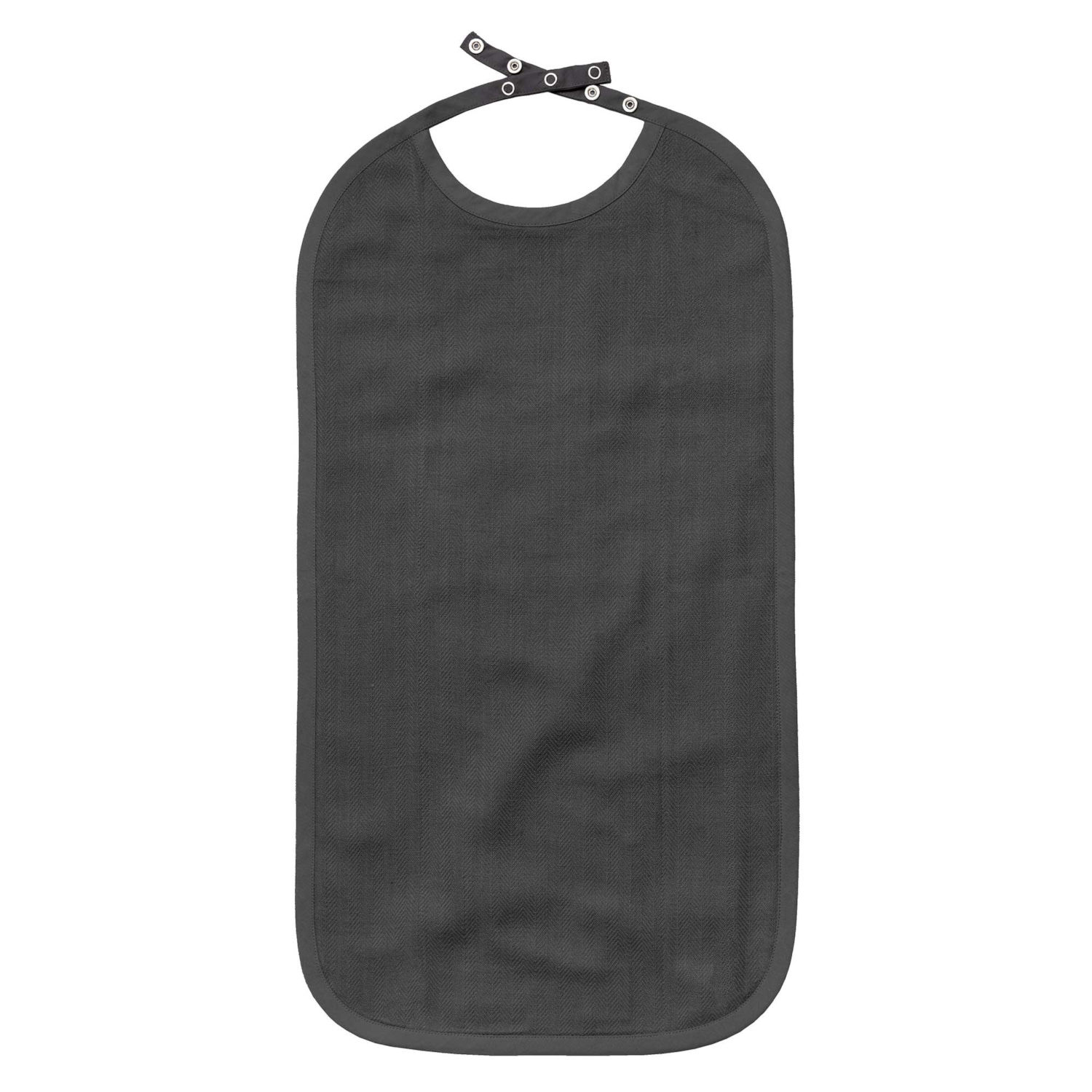 Long Bib, extra lång haklapp, Dark Grey